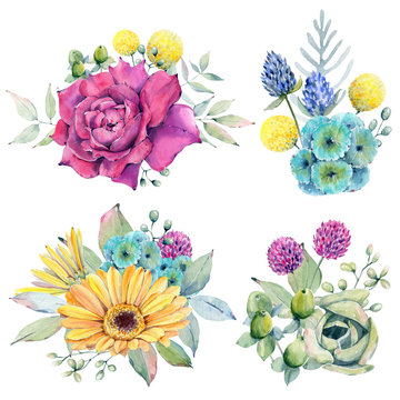 watercolor fiesta flowers