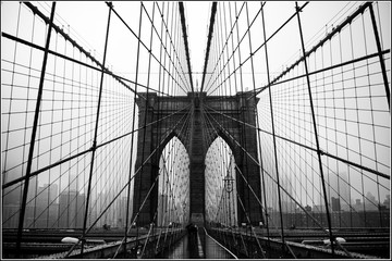 Zelfklevend Fotobehang Brooklyn Bridge Brooklyn bridge