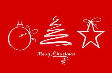 Weihnachtskarte Zeichnung