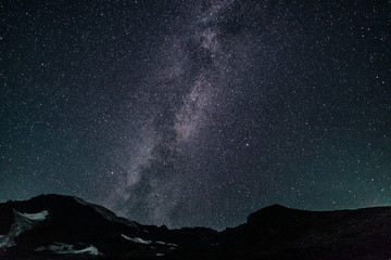 Piz Morteratsch with milkyway