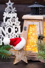 Christmas decor und lantern. Symbol xmas.