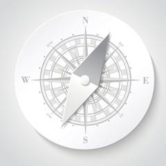 Paper compass (windroses) . Raster illustration.