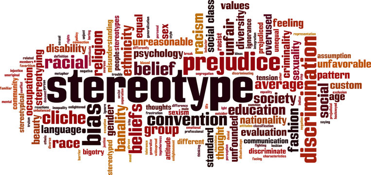 Stereotype word cloud