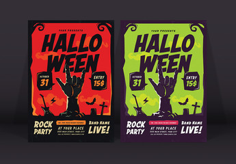 Halloween Rock Party Flyer 1