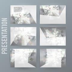 Metalic set presentation background modern blurry design05