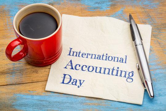 International Accounting Day on napkin