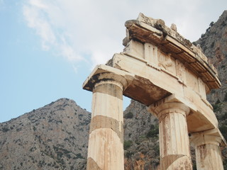 Ruins at Oracle of Delphi