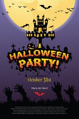 Halloween Invitation. Vector Eps 10