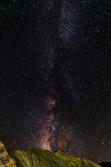 milkyway and mountain background