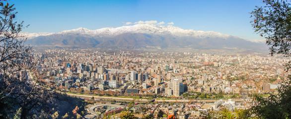 Panoramic view of Santiago city