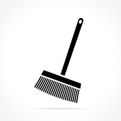 broom icon on white background