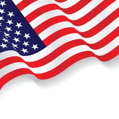 US flag isolated on white background.