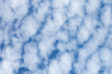 Background of beautiful clouds against deep blue sky