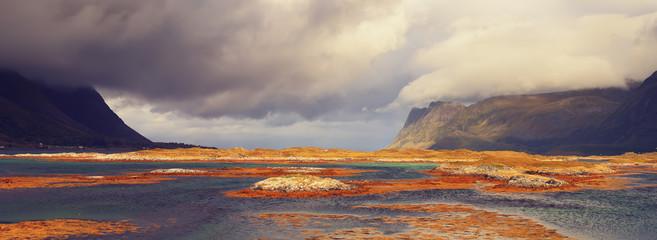 Autumn landscape of Norway