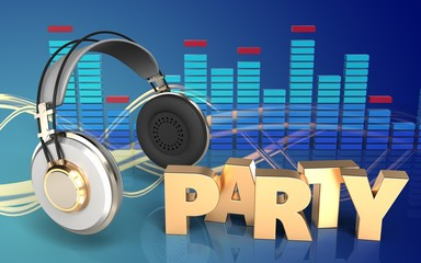 3d party sign headphones