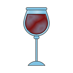 glass of wine icon image vector illustration design