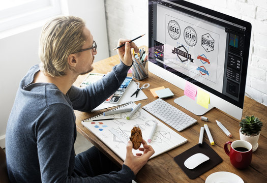 Logo Design Business House Concept