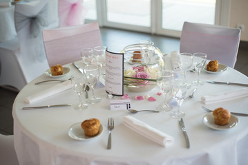 Déco de table de mariage