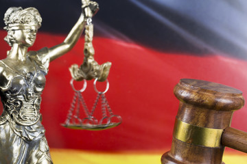 Law, Judge Mallet and Germany Flag