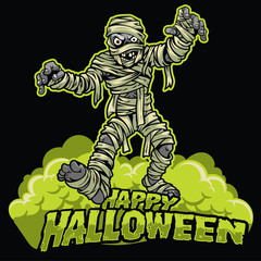 halloween design of mummy
