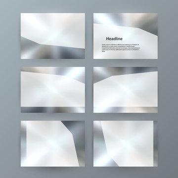 Metalic set presentation background modern blurry design19