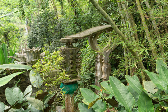 Xilitla, Mexico: Las Pozas also known as Edward James Gardens as well, with concrete structures blending in to vegetation in the most Northern jungle of the country nowadays a tourist destination