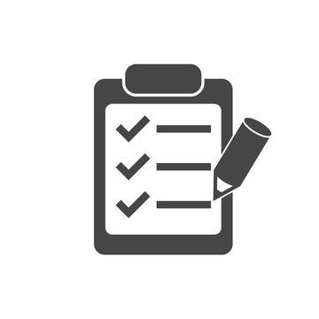 Clipboard and pencil icon