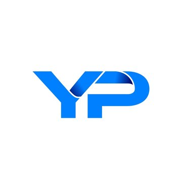 yp logo initial logo vector modern blue fold style