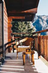 Fototapete - Winterurlaub im Bergchalet
