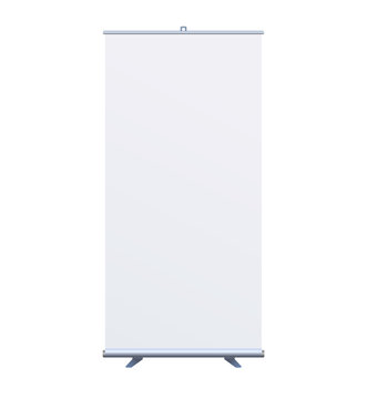 Roll Up Banner Stand on isolated clean background7