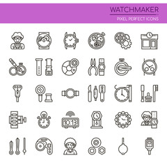 Watchmaker , Thin Line and Pixel Perfect Icons.