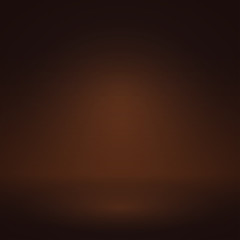 Vector of chocolate brown empty studio room background, template mock up for display of content or product.