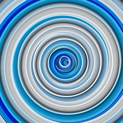 White blue twisted shape abstract 3D render