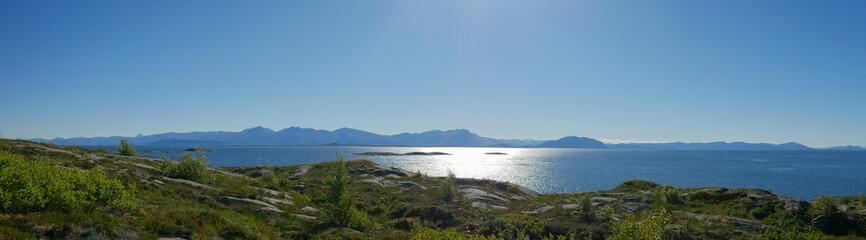 Norway Vega North nature panorama header