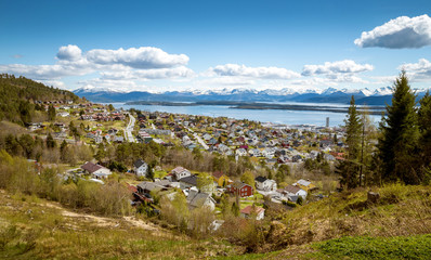 Panorama of Molde town, Norway