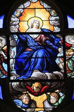 L'Assomption de la Vierge. Cathédrale Saint-Etienne. Bourges. / The Assumption of the Virgin. St. Stephen's Cathedral. Bourges.
