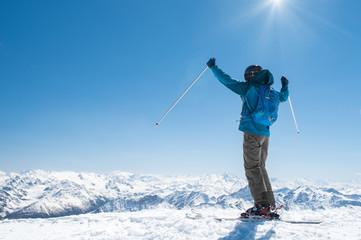 Man enjoying ski
