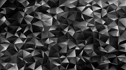 Black geometrical abstract tiled triangle pattern background - vector mosaic design from dark grey toned triangles