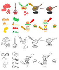 Recipe Burgers DIY instruction including sketch