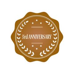 3rd anniversary stamp illustration