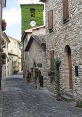 Frontino, old village in Montefeltro (Marches, Italy)