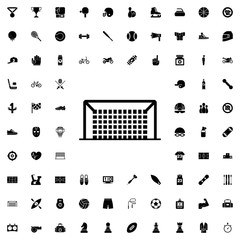 Soccer gate icon. set of filled sport icons.