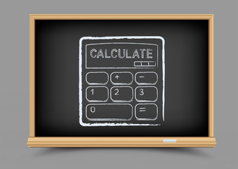 blackboard mathematics calculate lesson