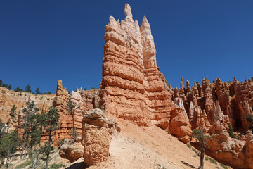Rock Formation in Bryce Canyon National Park in Utah. USA