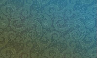 Gradient Paisley Background