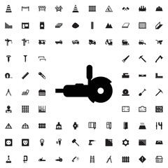 Grinder icon. set of filled construction icons.