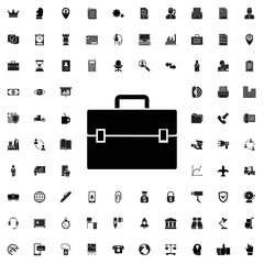 Case icon. set of filled company icons.
