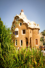 Fairy Park Guell in Barcelona