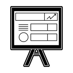 flat line monochromatic picture board over white background  vector illustration
