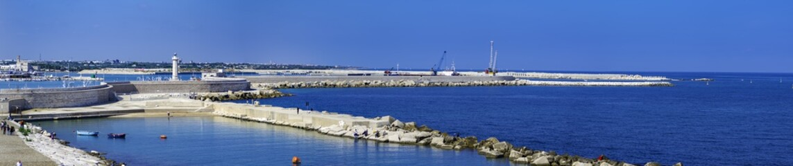 Panoramic view of Molfetta. Puglia. Italy.
